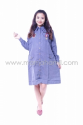 BAJU HAMIL DRESS ARMY PANJANG MODIS BIRU   DRO 822 B 2  large