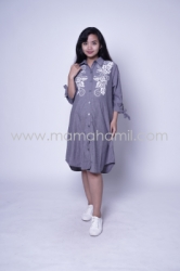 Baju Hamil Dress Hamil Full Kancing Blink Blink Dress   DRO 879 1  large