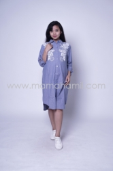 Baju Hamil Dress Hamil Full Kancing Blink Blink Dress   DRO 879 5  large