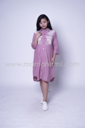 Baju Hamil Dress Hamil Full Kancing Blink Blink Dress   DRO 879 9  large