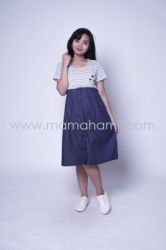 Baju Hamil Dress Hamil Mennyusui Kaos Kawaii Dress   DRO 877 1  large