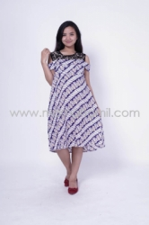 Baju Hamil Dress Hamil Menyusui Batik Brokat Naresha Batik Dress   DRO 154 9  large