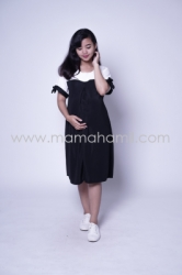 Baju Hamil Dress Hamil Menyusui Sabrina Chearly Dress   DRO 881 5  large