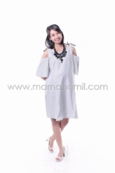 Baju Hamil Dress Hamil Pita Stripped Menyusui Micel   DRO 836 1  large