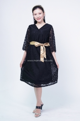 Shinta Party Dress Full Brukat Silky Belt - DRO 984 -