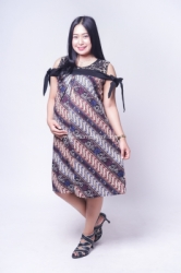 Dress Batik Hamil Menyusui Sabrina Brokat Pita   BTK 151 10  large