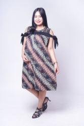 Dress Batik Hamil Menyusui Sabrina Brokat Pita   BTK 151 14  large