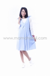 Dress Hamil Menyusui Candy Dress Overall Pita Manis   DRO 843 13  large