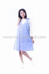 Dress Hamil Menyusui Candy Dress Overall Pita Manis   DRO 843 17  large