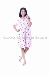 Dress Hamil Menyusui Kupu Kupu Dress Full Kancing Office Cantik   DRO 849 1  large