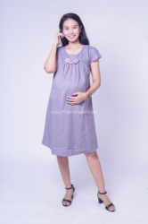 Dress Ibu Hamil Baju Hamil Feny Dress Pesta Modis Simpel Rose   DRO 961 Abu Tua 1  large