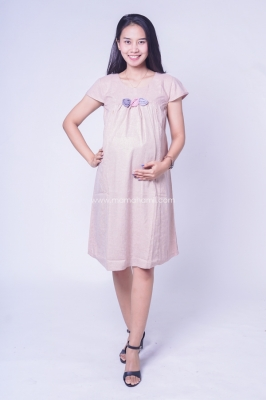 Dress Ibu Hamil Baju Hamil Feny Dress Pesta Modis Simpel Rose - DRO 961