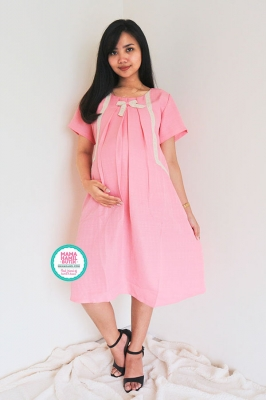 Dress Ibu Hamil Menyusui Pita Dada Meisyania Dress - DRO 943