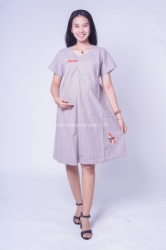 Dress Ibu Hamil Salur Pita Cantik Anggini Dress   DRO 966 1  large