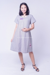 Dress Ibu Hamil Salur Pita Cantik Anggini Dress   DRO 966 5  large
