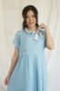 MAMA HAMIL Amy Dress Baju Hamil Menyusui Pita Leher Katun Polos Simple Elegant   DRG 02 26  medium