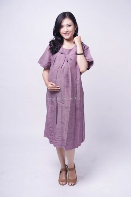 MAMA HAMIL DRESS CASUAL KOTAK BORDIR BUSUI FRIENDLY WENNIE DRESS - DRO 971