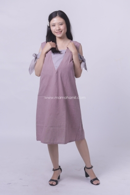 Dress Hamil Menyusui Pita Pricil Dress - DRO 901