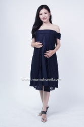 Mama Hamil   Theresia Dress Hamil Pesta Full Brukat Busui Friendly Sabrina   DRO 985 1  large