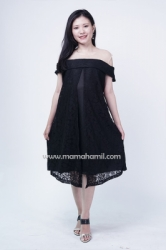 Mama Hamil   Theresia Dress Hamil Pesta Full Brukat Busui Friendly Sabrina   DRO 985 9  large