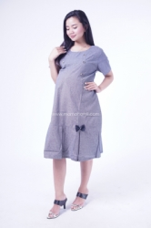 Mama Hamil Dress Casual Salur Pita Hitam   DRO 938 2  large