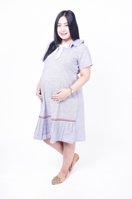 Mama Hamil Dress Ibu Hamil Menyusui Pita Tengah Sailormoon Dress - DRO 928