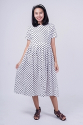 Mama Hamil Dress Ibu Hamil Menyusui Polkadots Simple Merry Dress   DRO 981 1  large