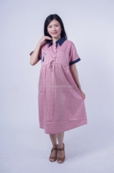 Mama Hamil Dress Wanita Hamil Menyusui Kerja Bordir Cat Pita Kancing Alicia Dress   DRO 995 13  large