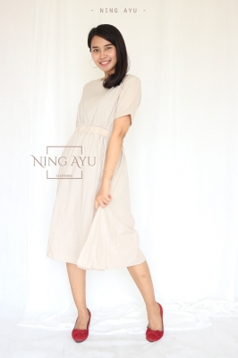 NING AYU Dress Modis Casual Pesta Katun Polos Natasha Dress Modis Nyaman Katun Adem Terbaru - NAD 04