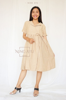 Shanti Dress Kerja Casual Kekinian Remaja Korean Style