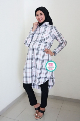Dress Hamil Menyusui Lengan Panjang Formal Tiara Tunik - DRO 1001
