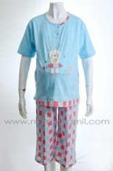 babydoll hamil rabbit girl biru  BD 87 7  large