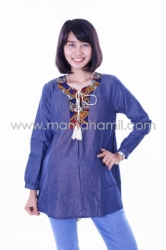 baju hamil muslim modis etnik indian biru  DRO 408 1  large