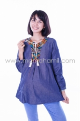 baju hamil muslim modis etnik indian orange  DRO 408 1  large