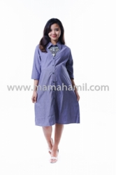 baju hamil tunik dress katun panjang polos abu  DRO 807 1  large