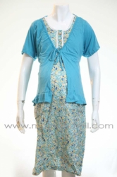 d dress hamil menyusui kancing bear bolero biru  DRO 478 1  large