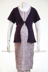 d dress hamil menyusui kancing bear bolero ungu  DRO 478 1  large