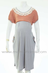 d dress menyusui hamil brokat salur orange  DRO 577 1  large