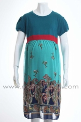 dress hamil batik shifon kaos berlengan  DRO 422 4  large