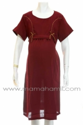 dress hamil kain jeruk 2 pita merah  DRO 579 1  large