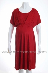 dress hamil kaos kelelawar merah   DRO 425   9  large
