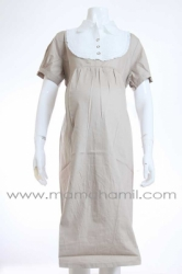dress hamil kerja krah krem   DRO 387  large