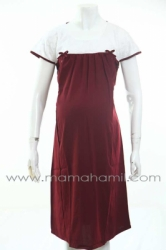 dress hamil menyusui brokat pesta merah  DRO 482 1  large
