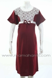 dress hamil pesta brukat putih dada merah  DRO 482 1  large