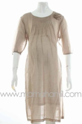 dress hamil shifon rose krem  DRO 334  large