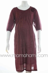 dress hamil shifon rose merah  DRO 334  large