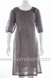 dress hamil shifon rose ungu muda  DRO 334  large