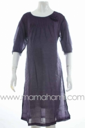 dress hamil shifon rose ungu tua  DRO 334  large