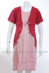 dress menyusui hamil tali bolero merah  DRO 474 1  large