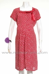 dress pesta hamil mata ayam sabrina merah  DRO 655 1  large